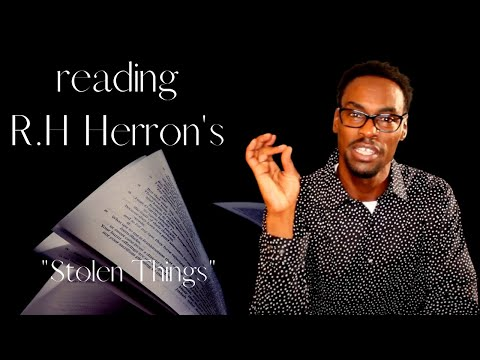 BOOK REVIEW: R.H. Herron's STOLEN THINGS - 2019