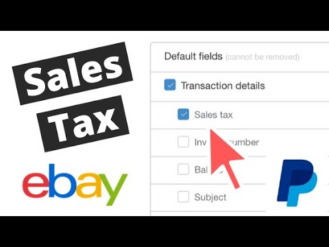 How To See All Sales Tax Collected From Ebay Sales Using Paypal Reports Youtube