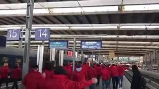Ankunft des HFC-Fankurven-Express in München