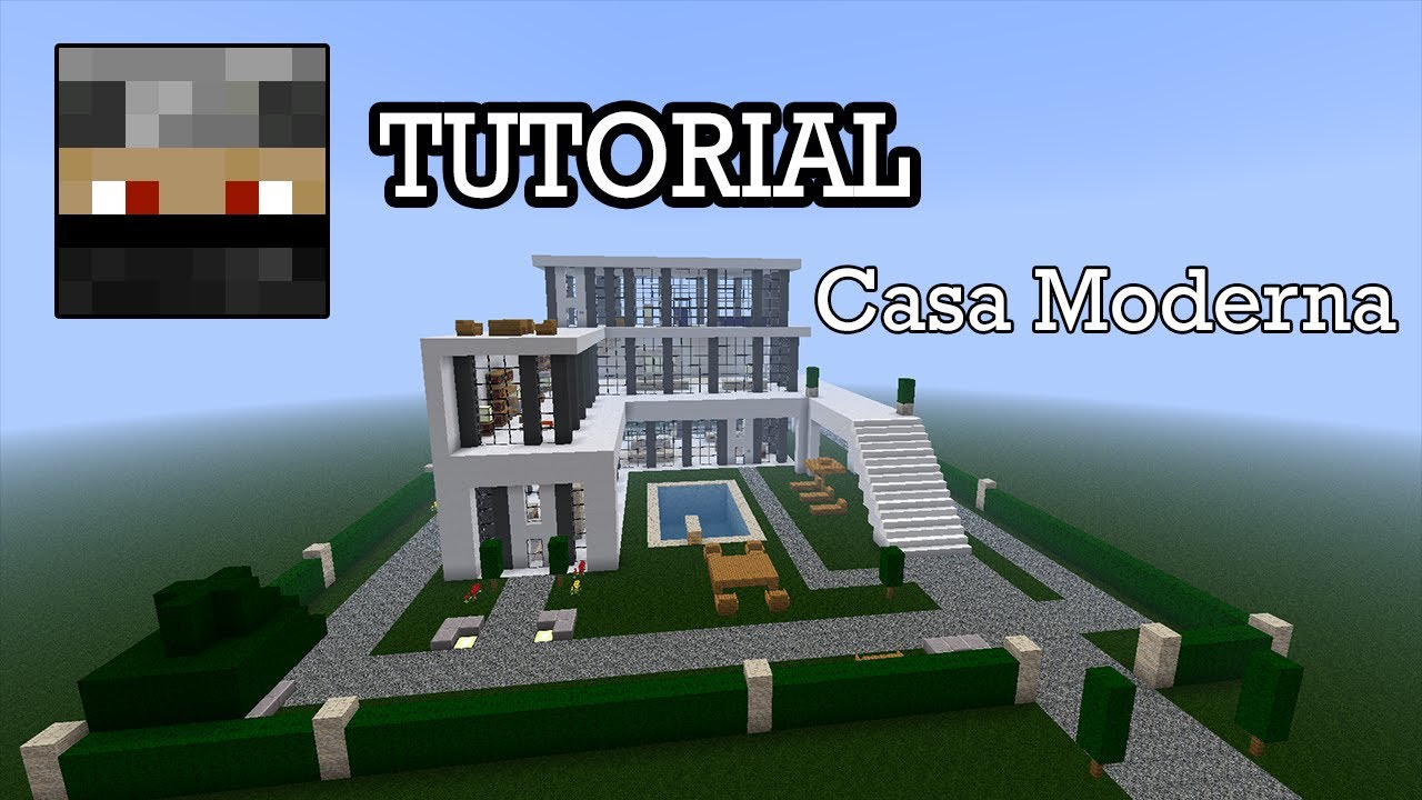 Minecraft tutorial casa moderna download youtube for Casas modernas no minecraft
