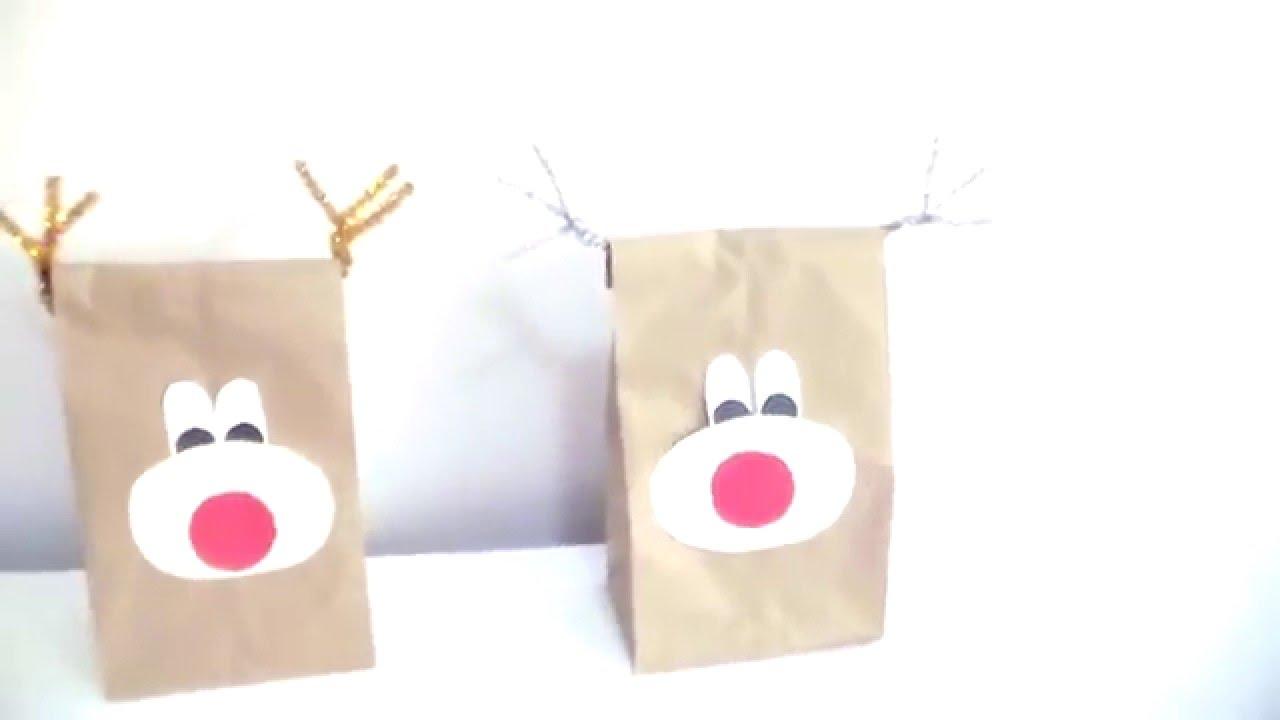 Regalo navide os bolsa de reno youtube - Bolsas para decorar ...