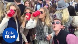 New Jersey rich kids booze it up at Far Hills horse race - Daily Mail