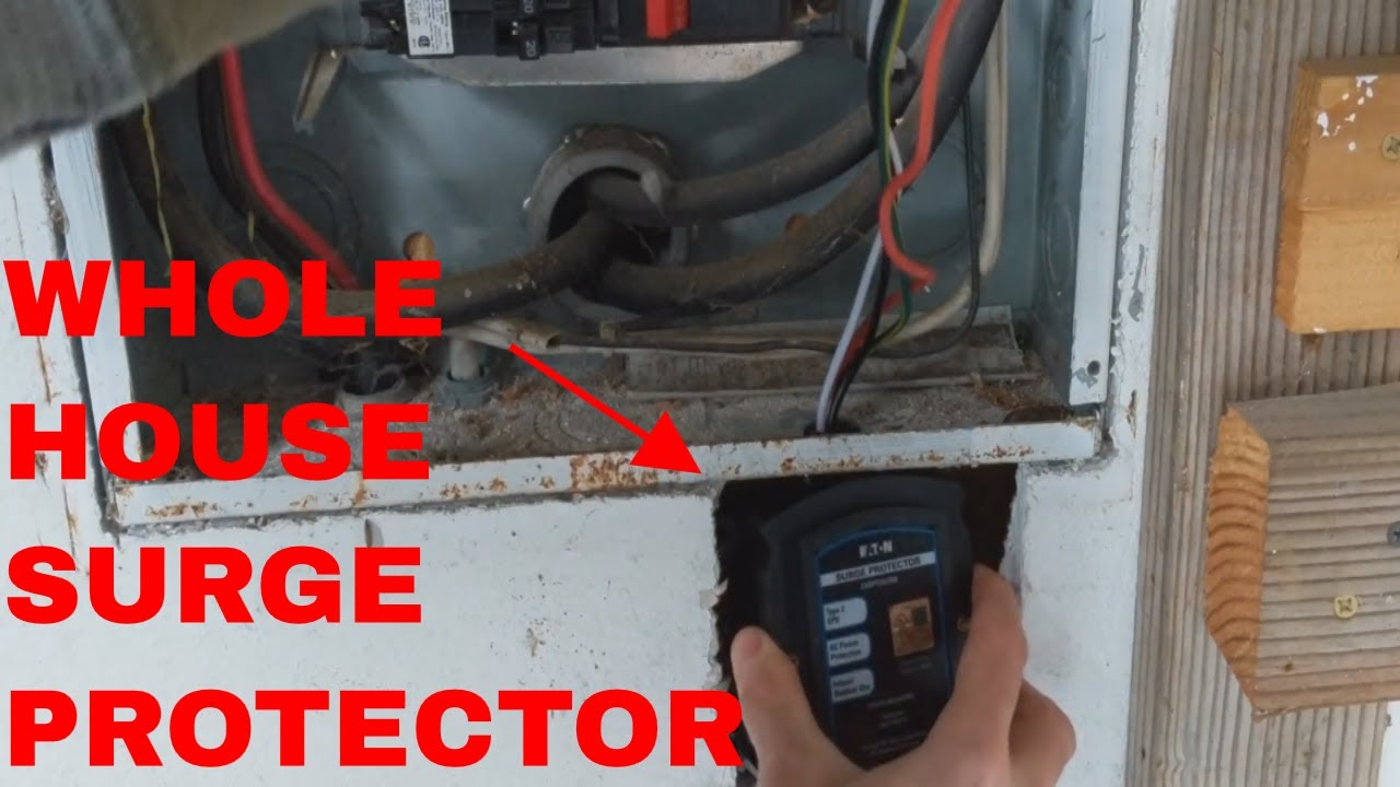 EATON WHOLE HOUSE SURGE PROTECTOR INSTALL FROM START TO FINISH - YouTube | Wiring Whole House Surge Protector |  | YouTube