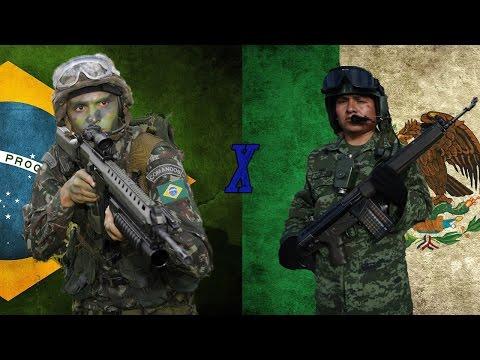 Brasil x México - Comparação Militar