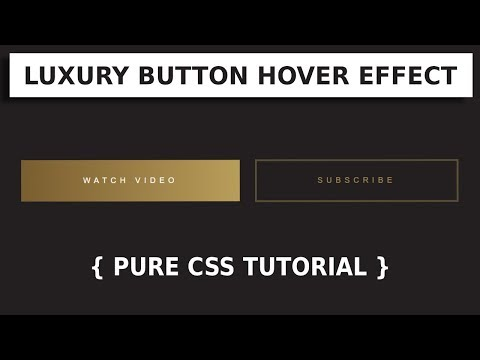 Luxury Button Hover Effect | Html & CSS