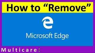 How to disable Microsoft edge in windows 10