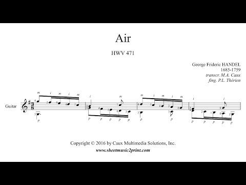 Handel : Air HWV 471 - Guitar