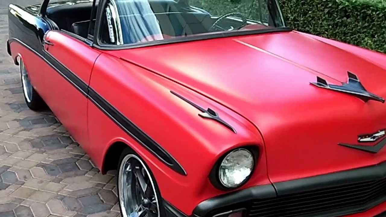 1956 Chevrolet Bel Air Custom Flat Red Paint Youtube