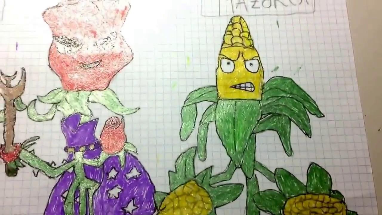 Mi Dibujo De Plants Vs Zombies Gw2