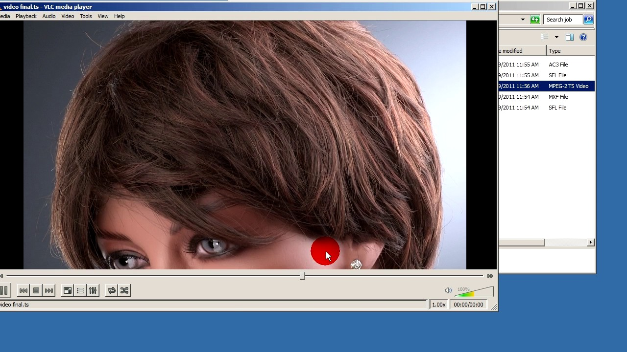 MXF to m2ts , used VLC and tsMuxer no recompression, to play with WDTV Live  media player