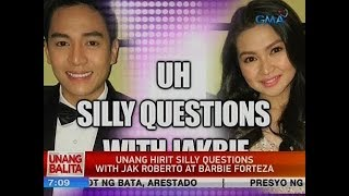 UB: Unang Hirit silly questions with Jak Roberto at Barbie Forteza