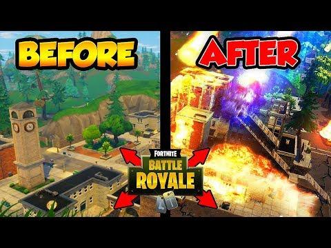 "TILTED TOWERS JUST GOT DESTROYED! ""LIVE NOW"" (Fortnite Battle Royale)"