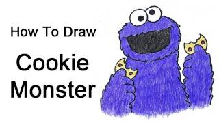 How to Draw Cookie Monster