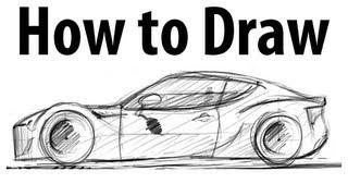 How to draw a Subaru BRZ - Sketch it quick!