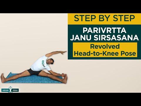 Parivrtta Janu Sirsasana (Revolved Head-to-Knee Pose)How to Do by Yogi RiteshSiddhi Yoga