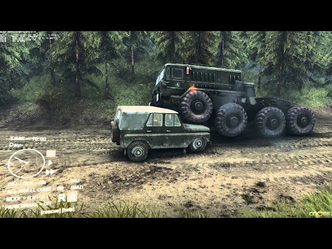 AWESOME OFF ROAD SIMULATOR ! Army Trucks Monsters in Spintires 2014