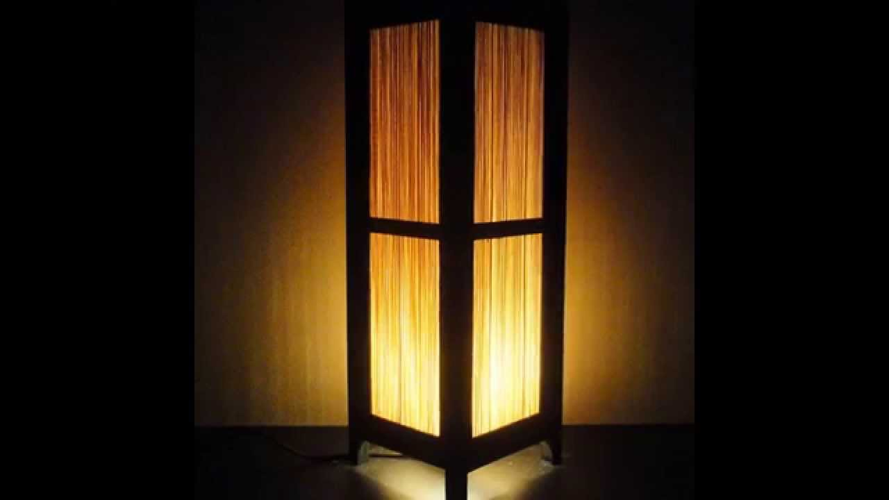 Bamboo Floor Lamp By Colormehouse.com - YouTube