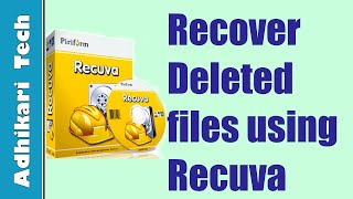 How to recover deleted files from hard disk or USB using Recuva