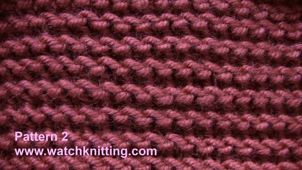 Show Garter Stitch Knitting : Garter stitch - Free Knitting Patterns Tutorial - Watch Knitting - pattern 2-...