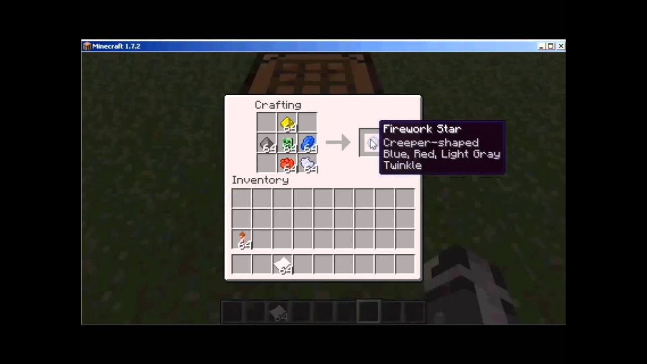 how to create fireworks minecraft
