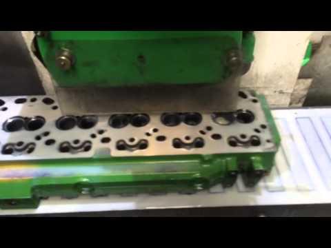 Skimming a John Deere 12 Valve Cylinder Head
