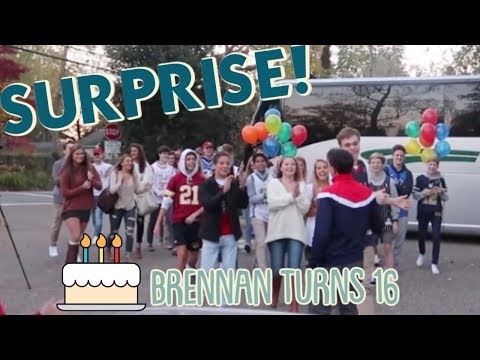 It's Brennan's Surprise 16th Birthday Party!