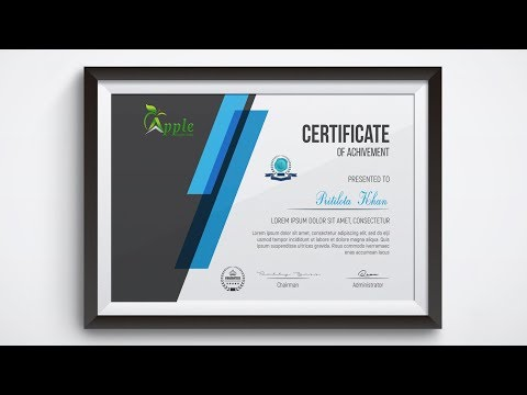 Academic Certificate Design - Photoshop Tutorial