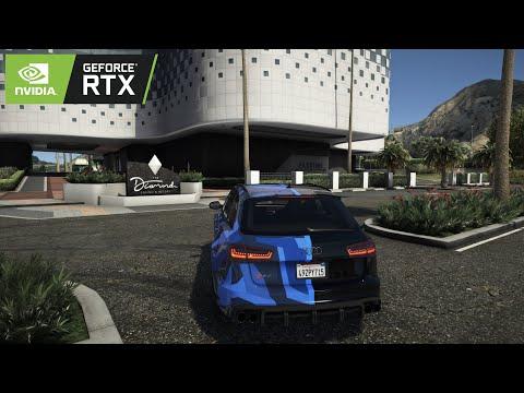 ► GTA V 8k Resolution ✪ Audi RS6-R ABT GMK Livery - BRUTAL Sound 🔥 RTX™ 2080 Ti & i9-9900k