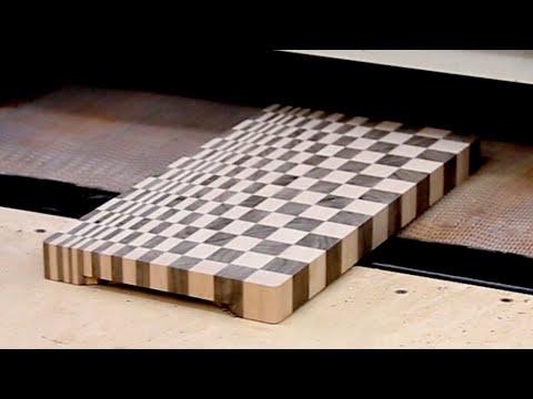 A small custom 3D end grain cutting board #8 - YouTube