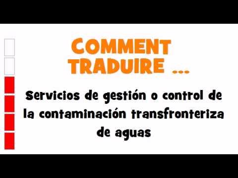 TRADUCTION ESPAGNOL+FRANCAIS = Servicios de gestión o control de la ...