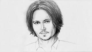 УСКОРЕННОЕ ВИДЕО. Как нарисовать портрет Джонни Деппа карандашом - ArtSchool(Привет дорогие друзья. В этом видео мы Вам покажем ускоренное видео - как нарисовать портрет актера Джонни..., 2016-07-20T15:17:12.000Z)