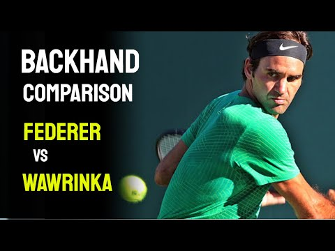 ATP one-handed backhand comparison - Roger Federer vs Stan Wawrinka