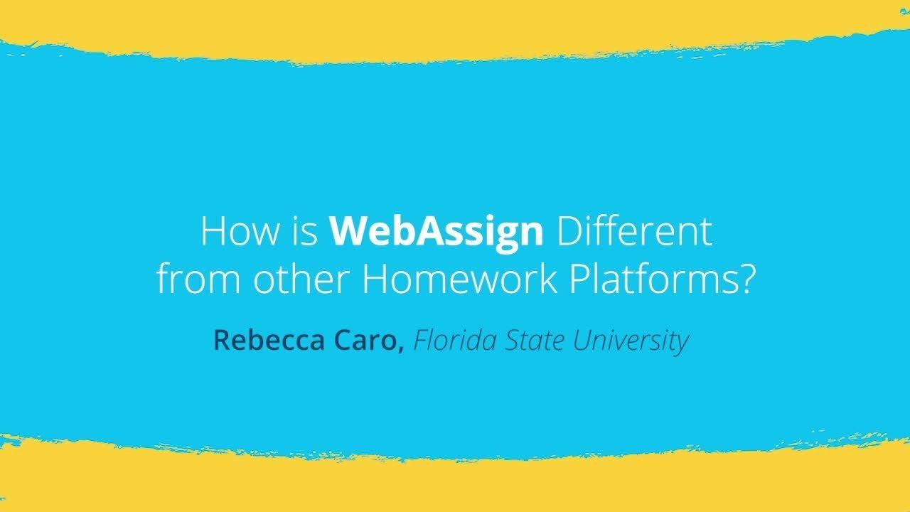 WebAssign vs  Other Homework Platforms