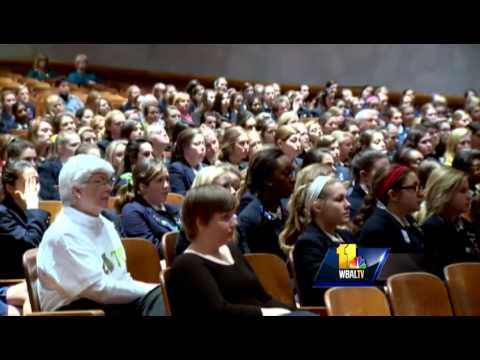Shock Trauma Educates Notre Dame Prep Students