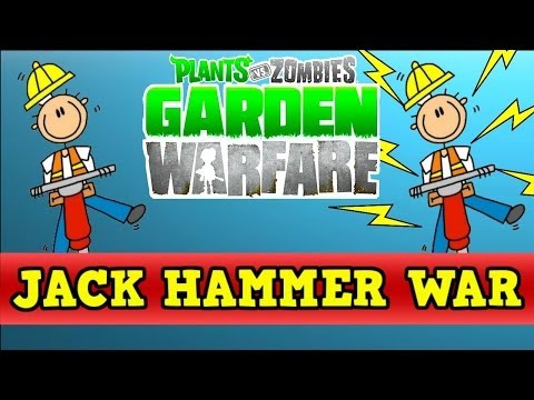 Plants vs Zombies Garden Warfare - Jack Hammer vs Turbo Jack Hammer (Ability Review)