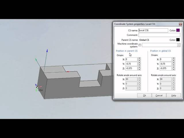 How to Create a New Coordinate System - SprutCAM 9