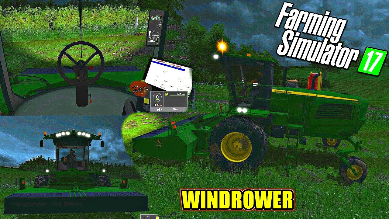 how to use a windrower in farming simulator