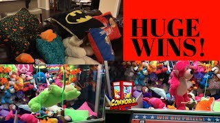 😋BIGGEST Claw Machine Wins EVER! Best BIG ONE Claw Machine Video!😋