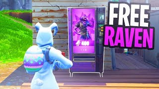 "How To Get ""Raven"" SKIN for FREE in Fortnite Battle Royale (Vending Machine Locations)"