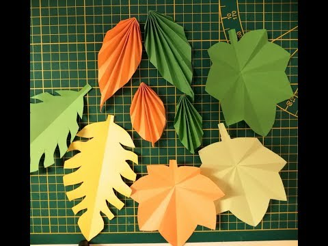 How to make easy paper leaves