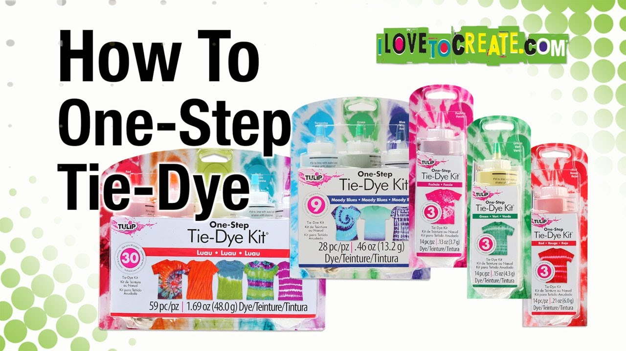 How To Tulip One Step Tie Dye Youtube