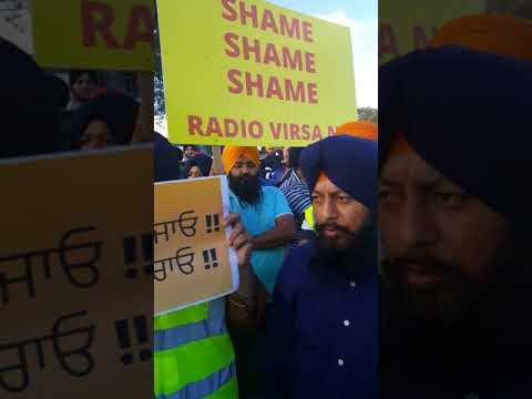 Peaceful protest against Harnek Singh New Zealand and Radio VIRSA