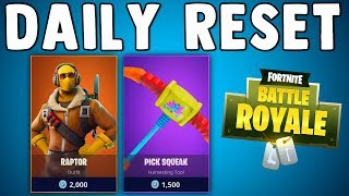 FORTNITE DAILY SKIN RESET - RAPTOR SKIN IS BACK!! Fortnite Battle Royale New Items in Item Shop