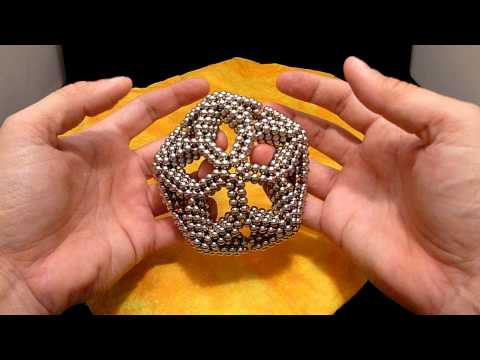 Zen Magnets/Neoballs: Pinched Teardrop Tube Rhombic Triacontahedron Tutorial