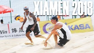 FIVB XIAMEN 2018 • Krasilnikov/Liamin (RUS) • Beach Volleyball World