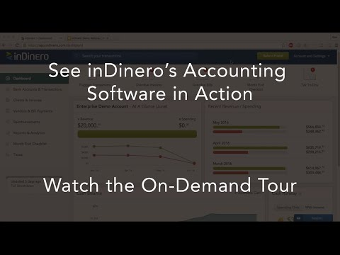 On Demand Tour of the inDinero Dashboard