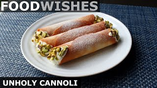 Gambar cover Unholy Cannoli - Easy Cheater Cannoli - Food Wishes