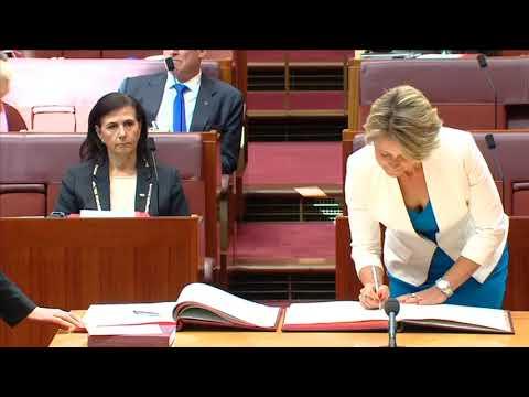 Sen. Kristina Keneally Sworn In (Feb 15, 2018)