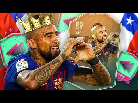 KING ARTHUR! 89 RATED FLASHBACK VIDAL PLAYER REVIEW! FIFA 19 Ultimate Team