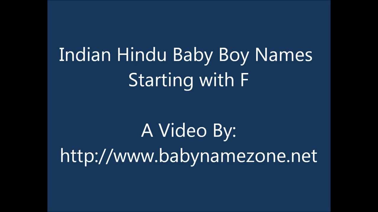Indian Hindu Baby Boy Names Starting With F Youtube